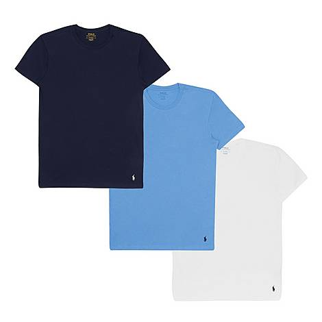 Three-Pack Crew Neck T-Shirts, ${color}