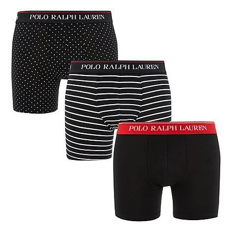 Three-Pack Stretch Cotton Boxer Briefs, ${color}