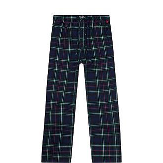 Plaid Cotton Pyjama Bottoms