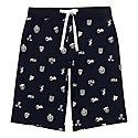 Crest Print Shorts, ${color}