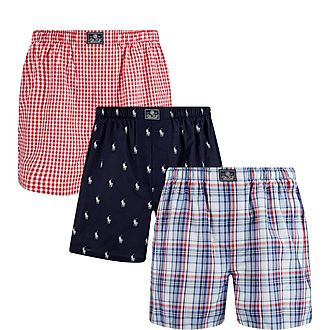 Three-Pack Woven Boxer Set
