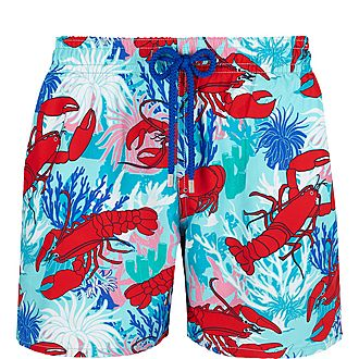 Lobster Moorea Print Swim Shorts