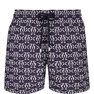 Seahorse Print Swim Shorts