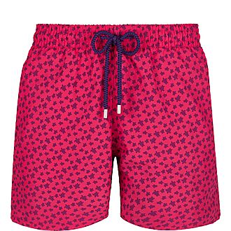 Micro Turtle Print Swim Shorts