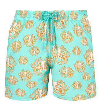 Octopus Print Swim Shorts