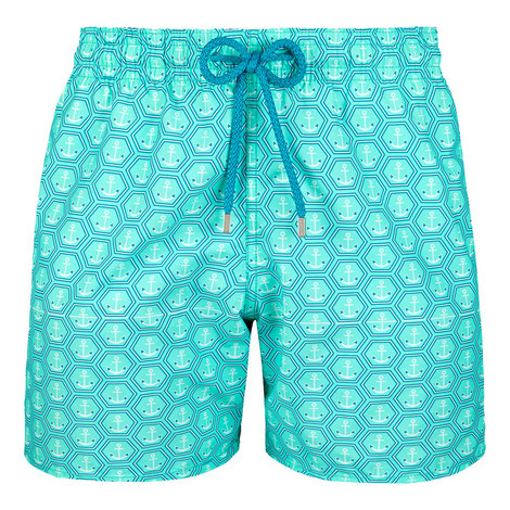 Moorea Anchor Print Swim Shorts, ${color}