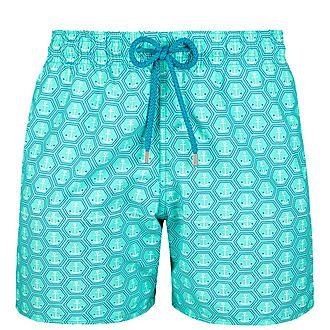 Moorea Anchor Print Swim Shorts