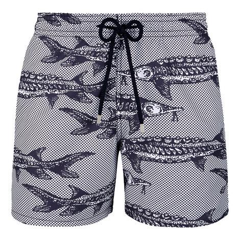 Moorea Fish Print Swim Shorts, ${color}