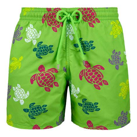 Moorea Turtle Print Swim Shorts, ${color}