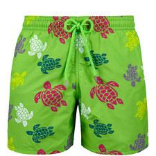 Moorea Turtle Print Swim Shorts