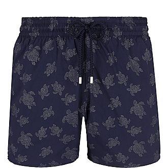Diamond Turtle Print Swim Shorts