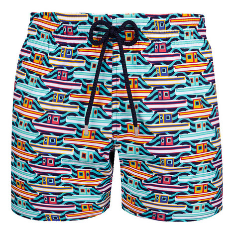 Moorea Mykonos Print Swim Shorts, ${color}