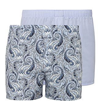 Two-Pack Fancy Woven Boxers