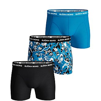 Three-Pack Flower Trunk Boxers