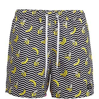 Banana Stripe Shorts