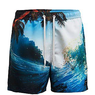 Ocean Print Shorts