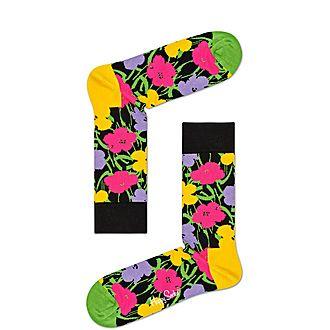 Flower Print Socks
