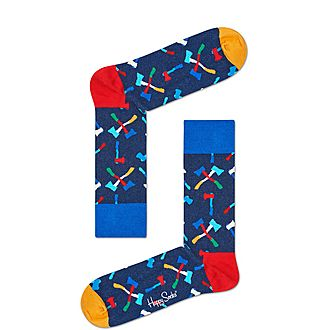 Axe Pattern Socks