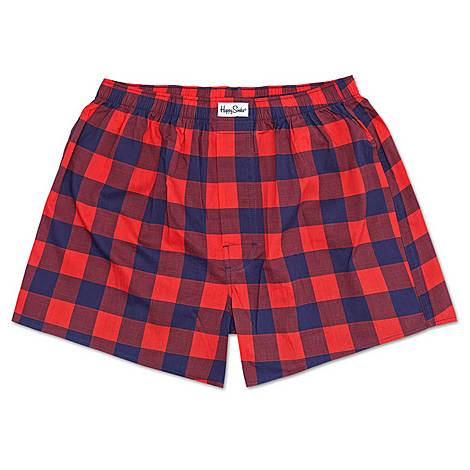 Gingham Print Boxers, ${color}