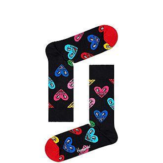 Keith Haring Heart Socks