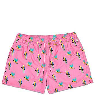 Parrot Print Swim Shorts