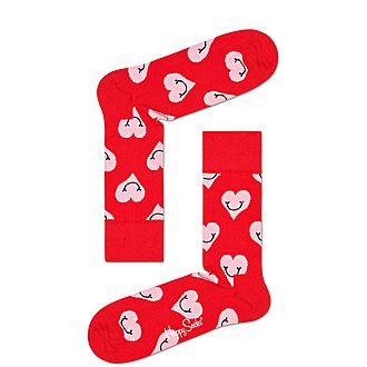 Smiley Heart Socks
