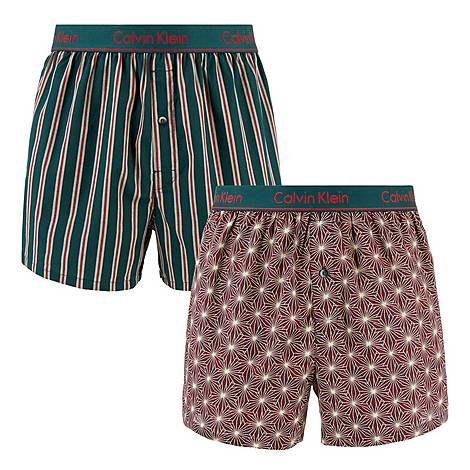 Two-Pack Woven Slim Boxers, ${color}