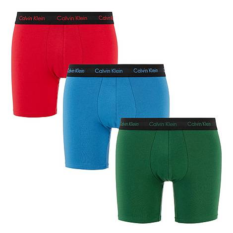 Three-Pack Solid Boxer Briefs, ${color}