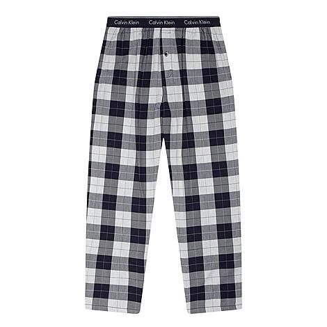 Flannel Plaid Pyjama Bottoms , ${color}