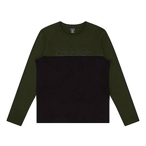 Two-Tone Long Sleeve Pyjama Top, ${color}