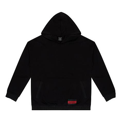 Logo Patch Pullover Hoodie, ${color}