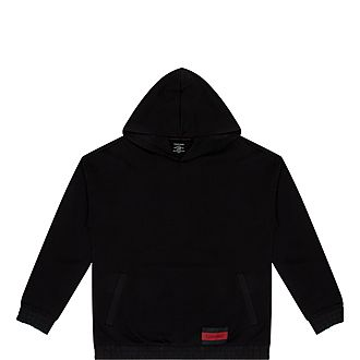 Logo Patch Pullover Hoodie