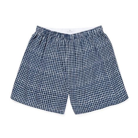 Grid Woven Boxer Shorts, ${color}
