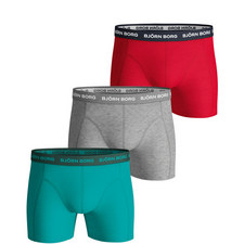 3-Pack Solid Boxers