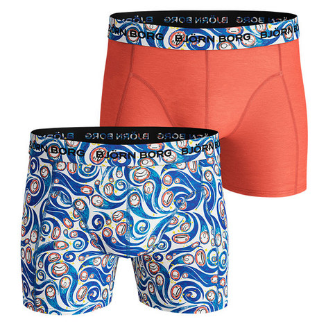 Two Pack Hypebeast Print Shorts, ${color}