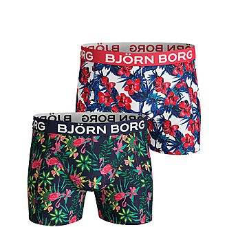 2-Pack Exotic Flowers Boxers