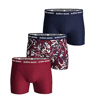 3-Pack Printed Boxer Shorts