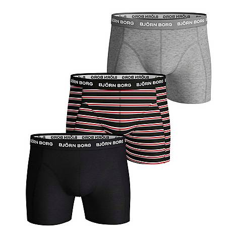 3-Pack Solid Stripe Boxers, ${color}