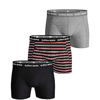 3-Pack Solid Stripe Boxers