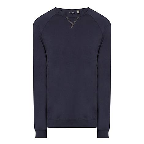 Contrast Stitch Long Sleeve T-Shirt, ${color}