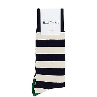 Ecru Stripe Socks