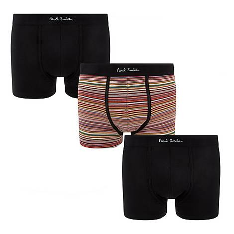 Three-Pack Contrast Waistband Boxers, ${color}