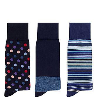 Three-Pack Socks