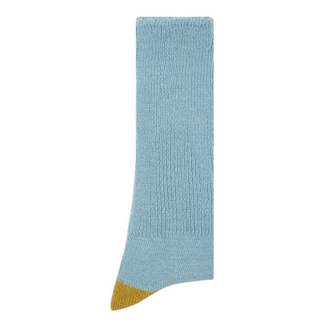 Mock Two Point Crew Socks, ${color}