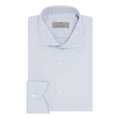 Micro Houndstooth Shirt, ${color}
