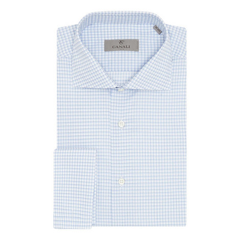 Double-Cuffed Grid Check Shirt, ${color}