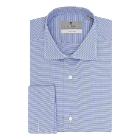 Double-Cuffed Micro Check Shirt, ${color}