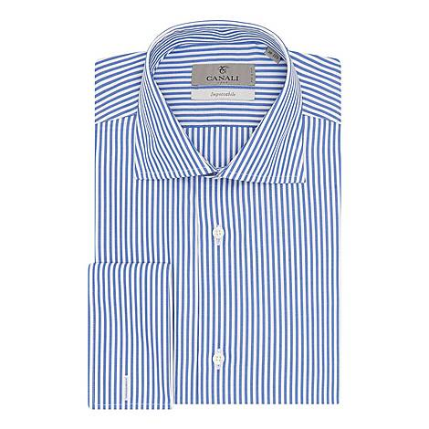 Double-Cuffed Bengal Stripe Shirt, ${color}
