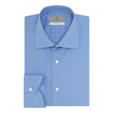 Impeccable Fit Twill Poplin Shirt, ${color}