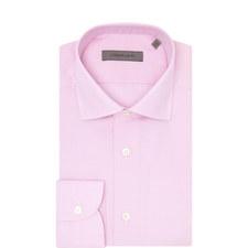 Micro-Gingham Pattern Shirt